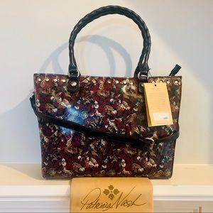 Patricia Nash Zancona Scarlet Blooms Leather Tote
